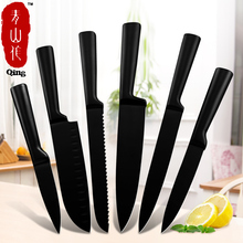 Knives-Set Kitchen-Accessories Slicing Chef Fruit Meat Stainless-Steel Utility Black