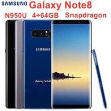 Samsung Galaxy Note8 Note 8 N950U Оригинальный разблокированный LTE Android мобильный телефон Восьмиядерный 6,3 «двойной 12 МП 6 Гб ram 64 Гб rom Snapdragon 835