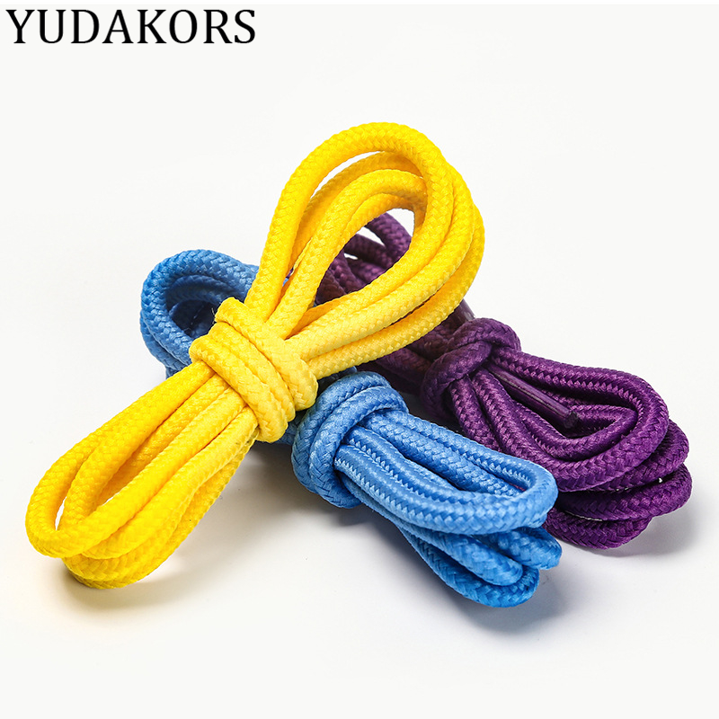 YUDAKORS 31 Colors Extra Long Round Shoelaces Shoestrings Cords Ropes Boots Sport Shoes Shoe Laces 80 100 120 140 160 180 CM