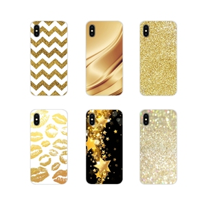 For Oneplus 3 5 6 7 T Pro Nokia 2 3 5 6 8 9 230 2.1 3.1 5.1 7 Plus 2017 2018 amp yellow gold glitter Transparent Soft Skin Cover(China)