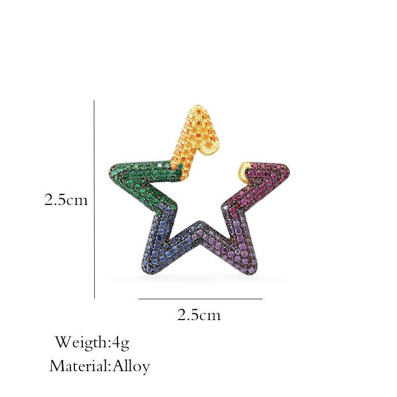 Купить женские разноцветные серьги клипсы в стиле «радуга»