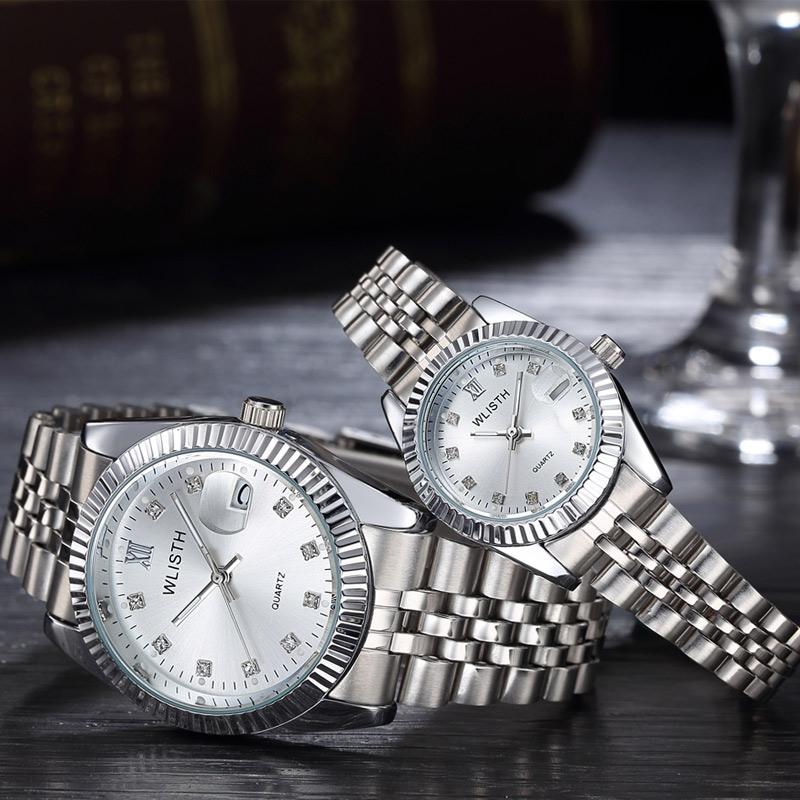 Mens Wristwatch Women Couple Watches Top Brand WLISTH Luxury Famous Quartz Watch For Male Clock Date Hodinky Reloj Hombre Saati