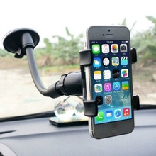 Universal Car Mobile Phone Holder Stand Rotating 360 Degree Long Arm Windshield Mount for GPS стоимость