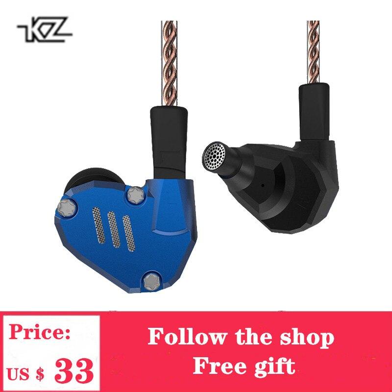 2019 Commemorative Edition KZ ZS7 Hybrid Headphone 4BA+1DD In Ear Earphones HIFI Earbuds Bass  DJ Monitor Earphone KZ ZS6 AS10