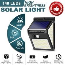 140 светодиодов настенный светильник Открытый солнечный с движения