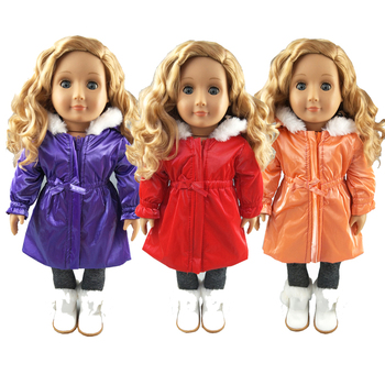 18 Inch Doll Clothes Long trench coat for 43cm Baby Dolls Jacket Clothes Baby Reborn Doll Clothes Ch