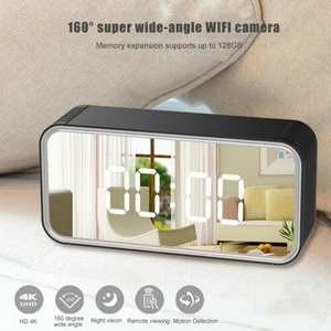 Clock Camera Monitor Distance Wifi Night-Vision Avi-Video Detect Support Hd 4K with Max-128gb