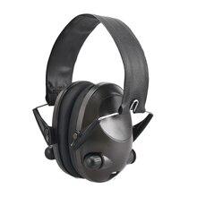 접이식 휴대용 소프트 솔리드 소음 감소 슈팅 조정 가능한 활성 사냥 청력 보호 귀마개 귀 보호기