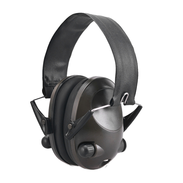 Foldable Portable Soft Solid Noise Reduction Shooting Adjustable Active Hunting Hearing Protection Earmuffs Ear Protector