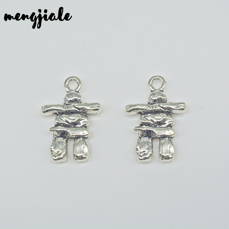 12pcs/lot stone man charms  Scarecrow  Charms Antique Silver Tone 21*14mm