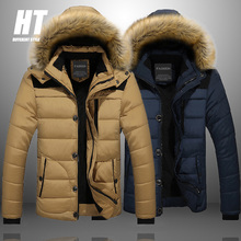 Warm Winter 2020 Men Parka Casual Hooded Men's Jacket Fur Lined Solid Snow Parkas Outerwear Thick Thermal Coats Large Size M-6XL