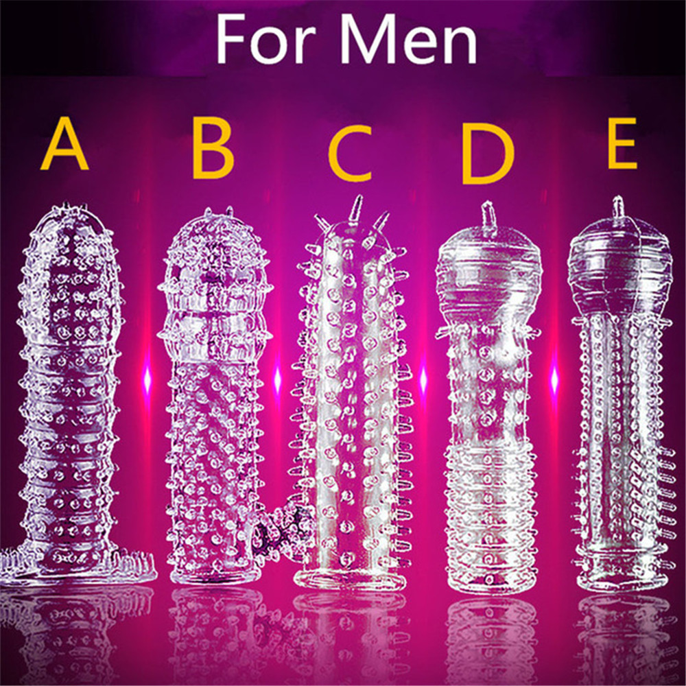 5 Models Extension Reusable penis Delay Crystal Penis Sleeve Textured for Couple <font><b>ring</b></font> <font><b>Sex</b></font> Products Adult <font><b>Sex</b></font> <font><b>Toys</b></font> for Men image
