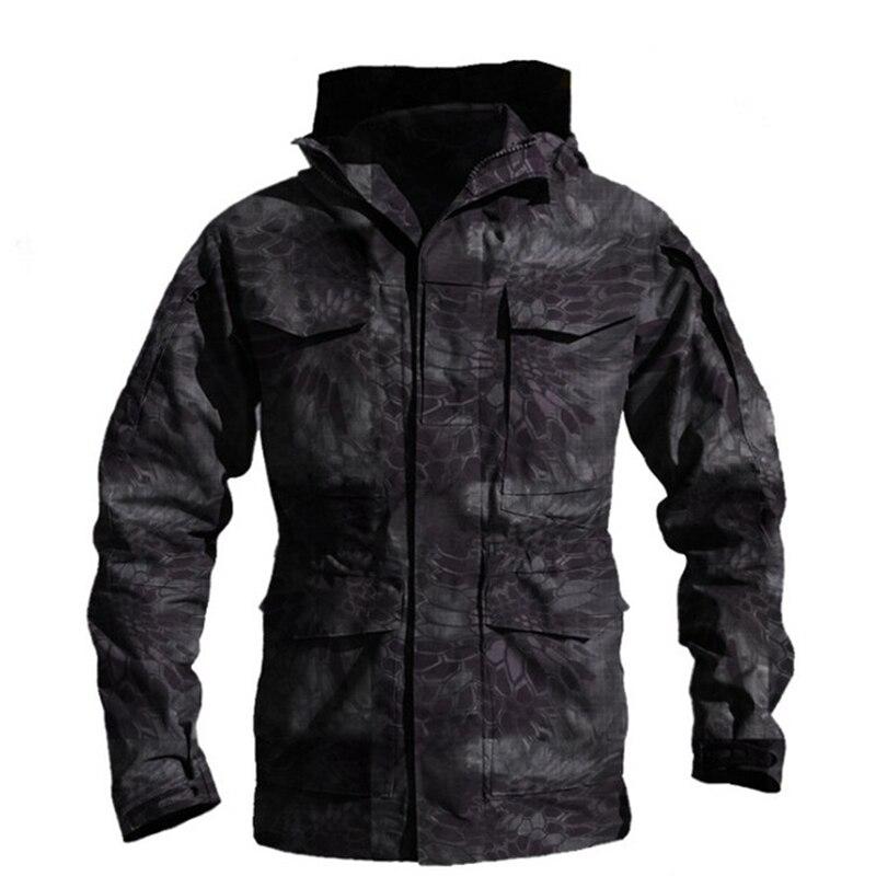M65 UK US Army Clothes Outdoor Tactical Windbreaker Men Winter Autumn Waterproof Coat Hoodie Military Field Jacket