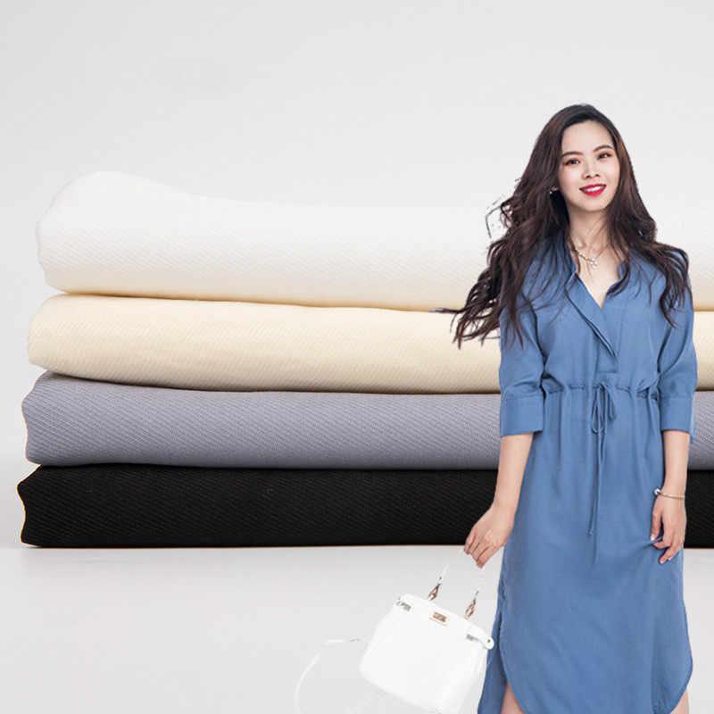 Breathable imitation silk fabric Imitation sky linen New in 2019 dress Shirt fabric Clothing fabric Rayon / Linen sewing fabric