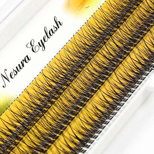 Grafting World Fish Tail Eyelash 8mm/10mm/12mm Dove Tail Individual Eyelash Extensions