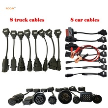 For Wow Snooper Full Set 8 Truck Cables 8 Car Cables OBD2 Diagnostic Tool OBDII OBD 2 Connect Cable interface Scanner car tools