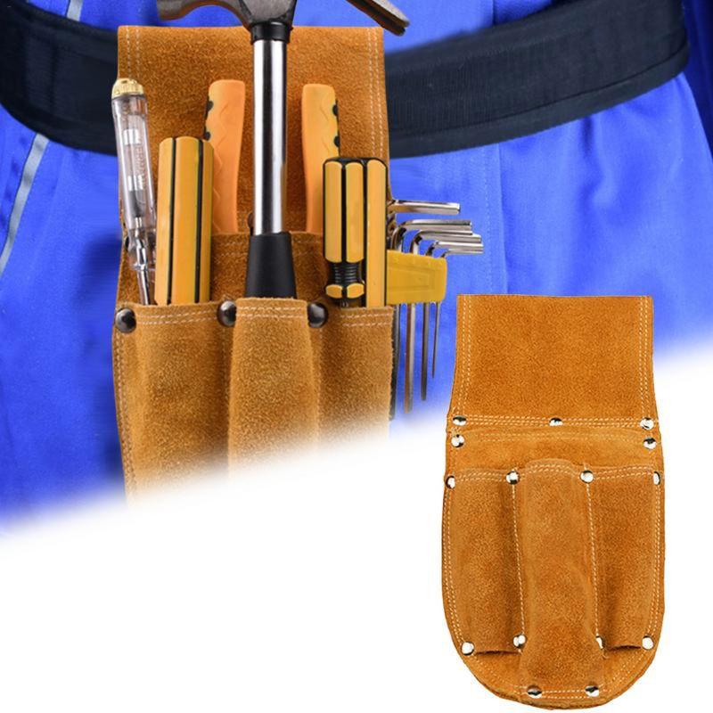 Leather Carpenter Electrician Tool Waist Bag Belt Pouch Pliers Screwdriver Case