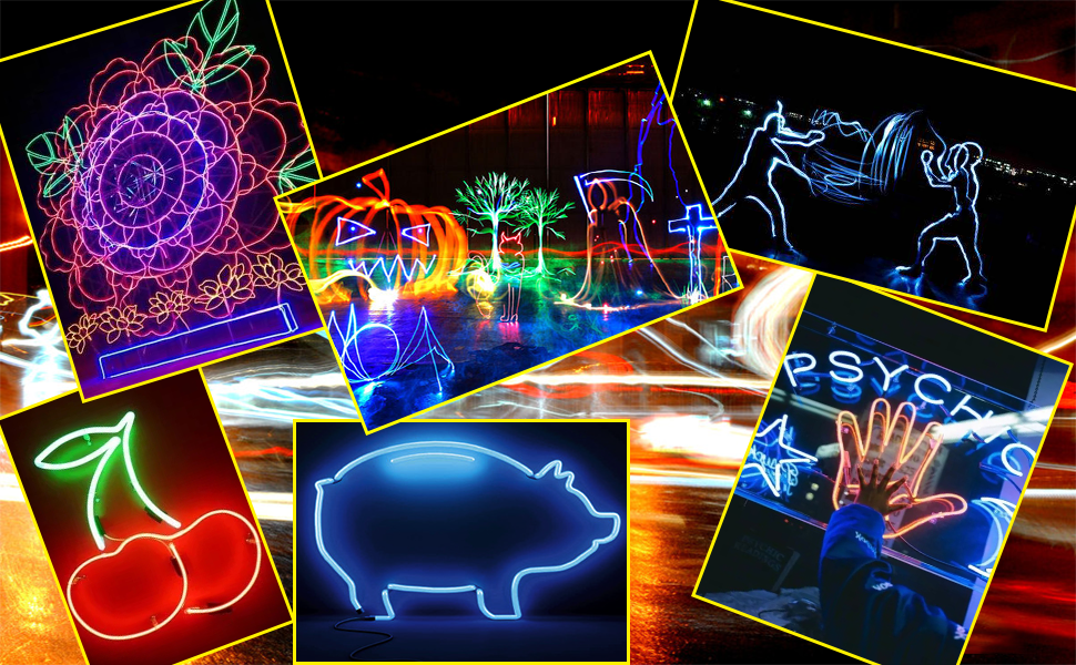 1m 3m 5m neon luz dança festa