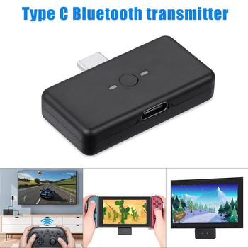 Type-C Bluetooth 5.0 Transmitter Bluetooth Audio Adapter Compatible for Switch/PS4/PC Host HSJ-19