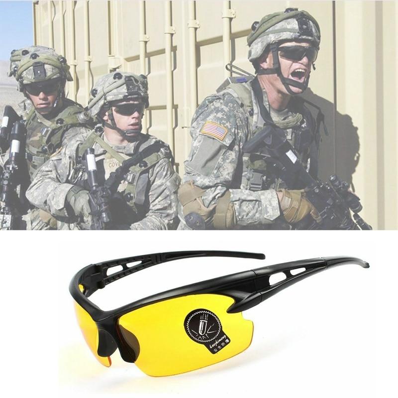 Пеший Туризм UV400 Защитная линза армии очки тактические ветрозащитный Велосипеды