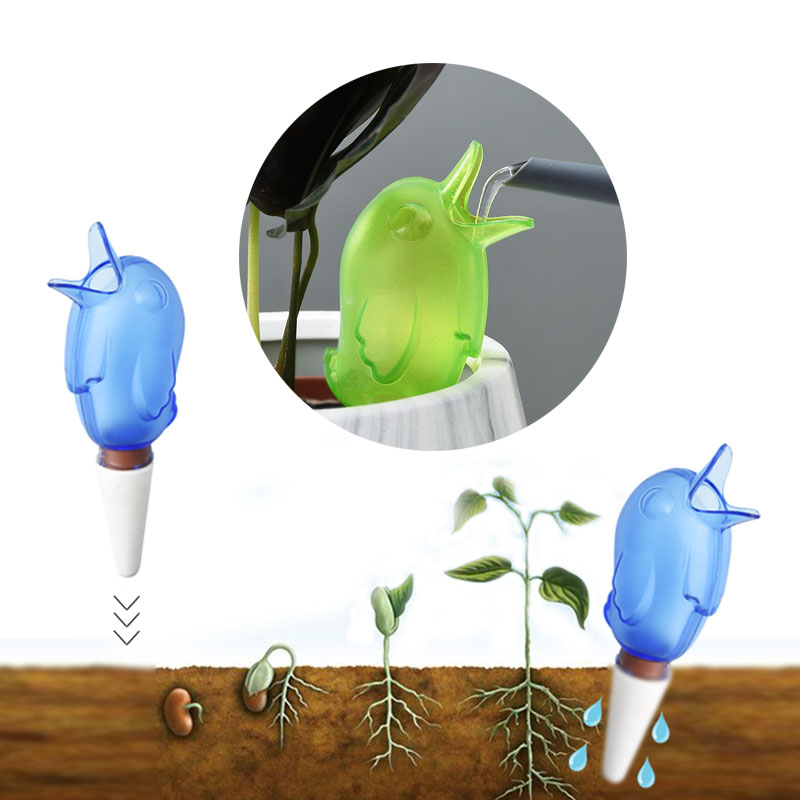 Hot Sale Garden Automatic Watering Device Cute Birds Indoor Drip Irrigation System Potted Plant Water Spike For Houseplant