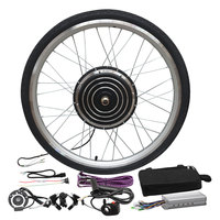 Electric Bicycle Motor Conversion Kit 26'' Tire Disc Brake 6 speed Gearbox 55 km/h Max 48V 1000W Brushless Hub Motor Wheel