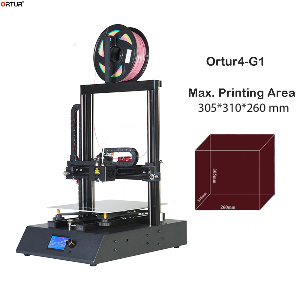 Ortur4 V1 Upgraded Version of Power Failure Continued to Play Linear Guide Rail 260 310 305MM large Printing DIY 3D Printer Kit in 3D Printers from Computer Office