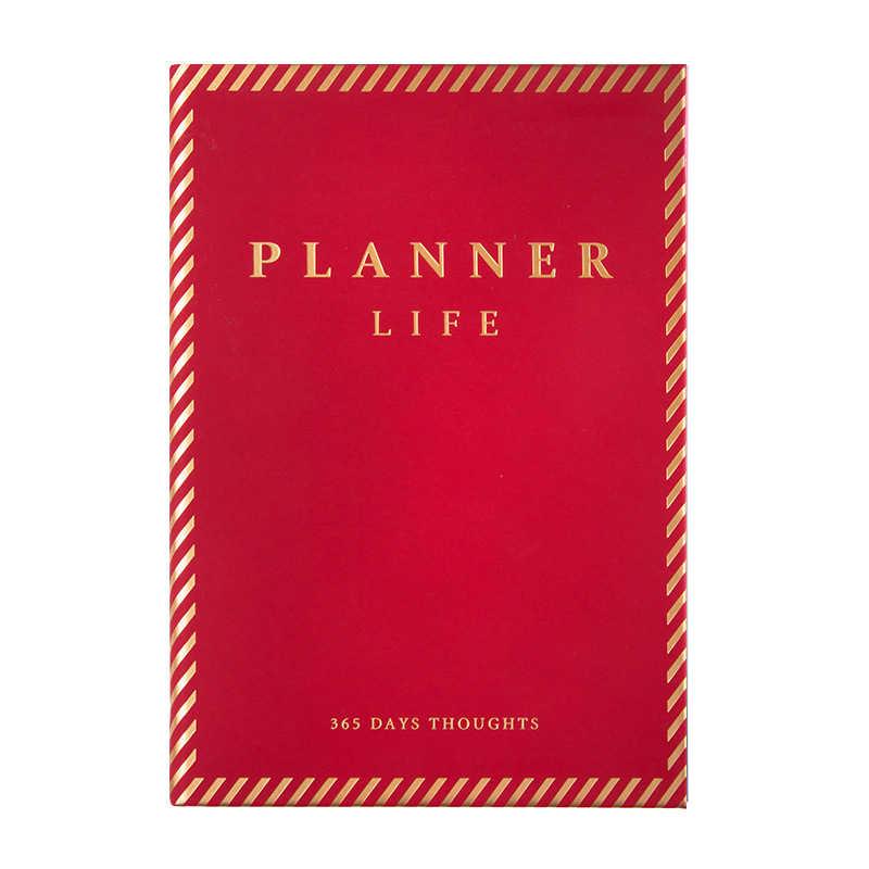 Engrossar a Agenda 2020 Couro Organizador Planejador Diário A5 D50 GTD Mensal Semanal Notepad Jornal Caderno de Negócios Estilo Europeu