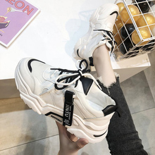 2019 Summer New Breathable Mesh Shoes Red Fashion Joker Thick Bottom Sneakers Casual Fairy 28