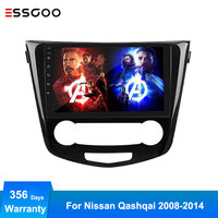 Essgoo 2 Din Android Car Radio Central Multimedia Video Player Auto Stereo GPS Navigation Autoaudio For Nissan Qashqai 2008 2014