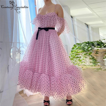 Pink Prom Dresses Formal Gowns with Pockets Sweetheart Zipper Back Tea-Length Cute Evening Party Gowns Vestido De Festa red mermaid prom dresses 2020 sweetheart zipper back sweep train wedding formal party gowns evening dress vestidos de festa