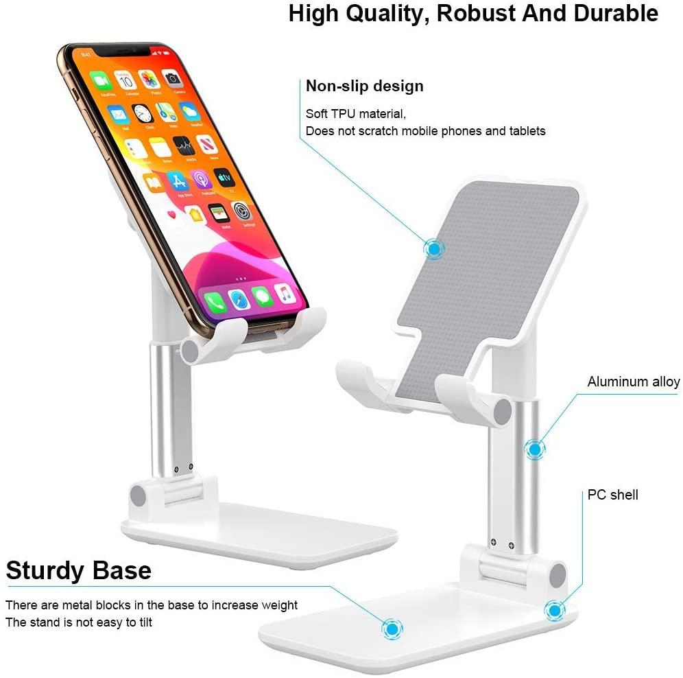 White/Black/Red Mobile Phone Desktop Stand Holder Desk Table Mount For IPhone Tablet Portable Telescopic phone Bracket