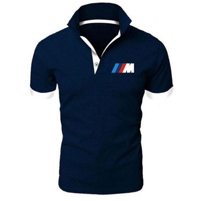 Summer BMW short Sleeve Polo Shirt men polo shirts casual Slim Solid Printing business men's polo shirts men's clothing 2
