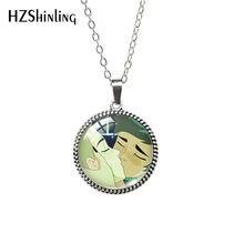 Catradora catra adora she-ra-catra-cabeçalho beijando antigo colar de vidro pingentes de cabochão jóias