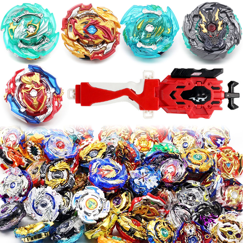 New Top Launchers Beyblade Burst Toys B-128 B-129  Bables Toupie Bayblade Burst Metal God Spinning Tops Bey Blade Blades Toy