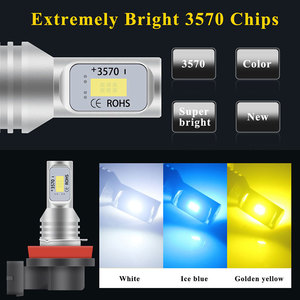 Image 2 - 2pcs רכב פנס מיני גודל H4 H7 LED H1 H11 H3 H8 H9 HB4 9005 9006 LED נורות רכב ערפל אור מנורת 80W 6000K 12000lm 12V