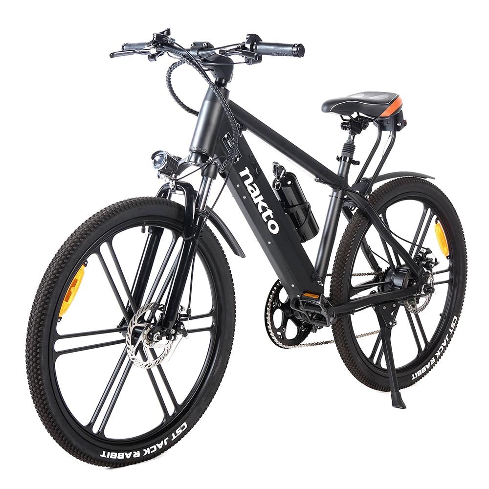 "NAKTO 26"" Electric Bicycle 25KM/H 350W 48V10AH 50KM Mileage Six-speed Aluminum Alloy Electric Bike E-Bike Lithium Battery"