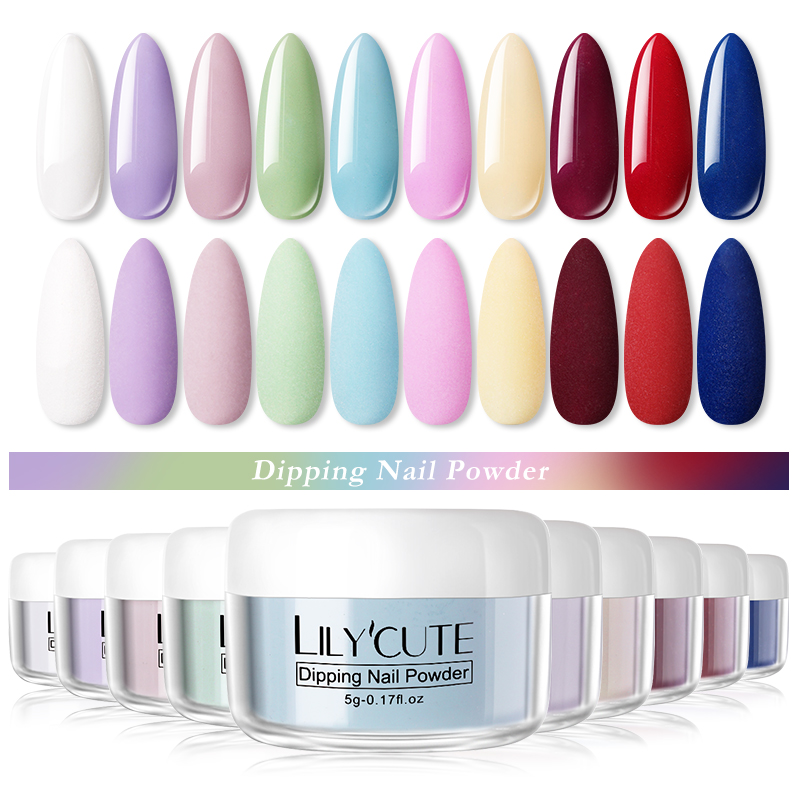 LILYCUTE Dipping Nail Powder Matte Effect Glitter Nail Pigment Natural Dry for Gel Polish DIY Nail Art Decoration 5g|Nail Glitter| - AliExpress