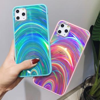Étui Laser à prisme holographique JONSNOW pour iPhone 11 Pro XR XS Max étuis 3D housse de téléphone à paillettes arc-en-ciel pour iPhone SE 2020 7 8 6S 2