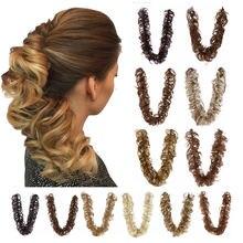 Пучок волос с длинными волосами обмотка вокруг ленты для шиньон