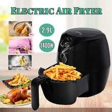 220 v-50 hz 1400W 2.9L большая, вместительная, черная свободного воздуха масла Фрайер Панель нелипкий картофеля-фри торт закуски электронная фритюрница