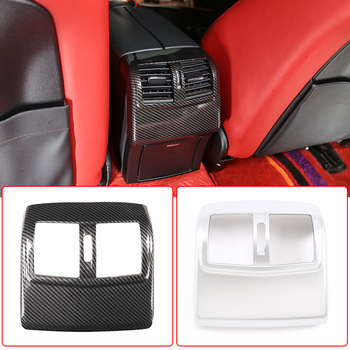 For Mercedes Benz E Class W212 2012-2015 ABS Carbon Fiber Car Rear Armrest Box Air Condition AC Vent Cover Trim Accessories for mercedes benz smart fortwo 2015 abs rear tail lamp light cover protector trim