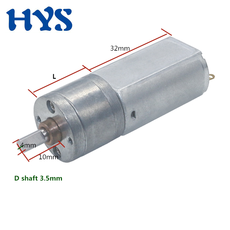 HYS DC Motor 12V Gear Motor Mini Electric Motors 12 Volt V Micro Speed Reducer DC12V Small Metal Motor DIY Toys Robot JGA20-180