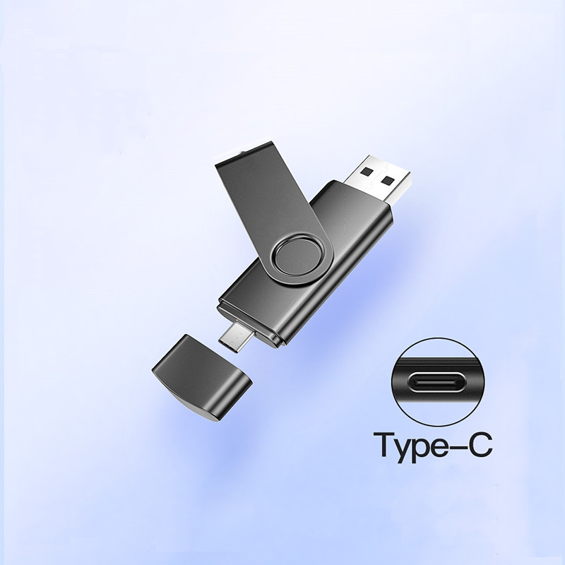 Typec Mobile Phone Usb Flash 32GB 128GB 16GB Pendrive  64gb 2 In 1 Usb Flash Stick флешка For Tablet And Cellphone