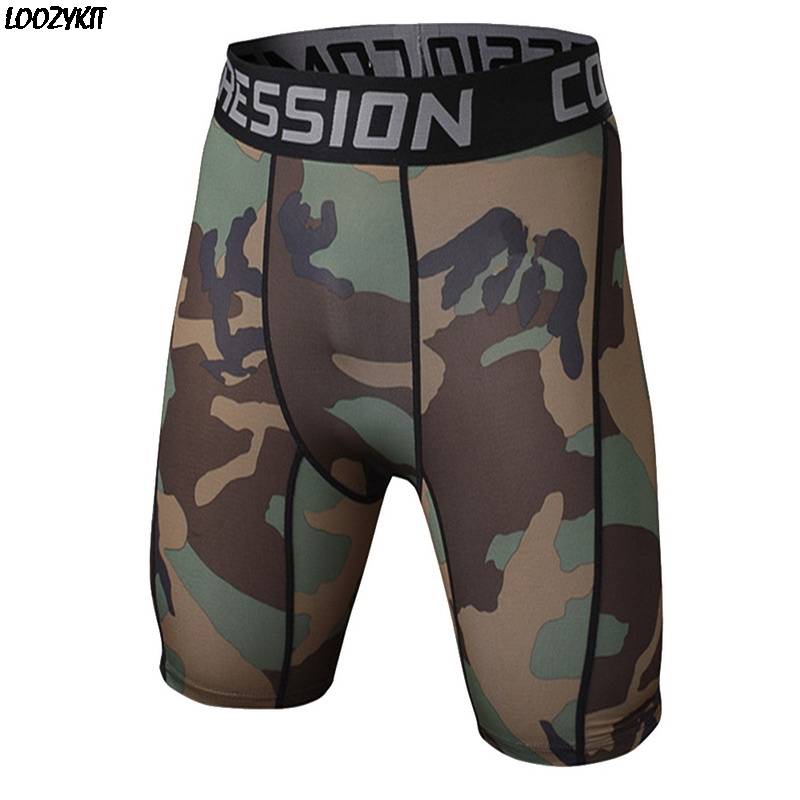 LOOZYKIT 2020 Sport Running Tights Mens Camouflage Pants Quick Drying Shorts Summer Fitness Shorts Compression Stretch Pants