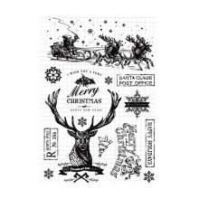Winter Snowflake Christmas Clear Stamps Rubber Transparent Seal for DIY Scrapbooking Photo Album Decorative Template Crafts
