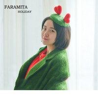 Faramita Holiday Women Kids Girls Cute Hair Clip Handmade Wool 100% Manual Headwear Heart Contrast Color Hair Accessories Retro