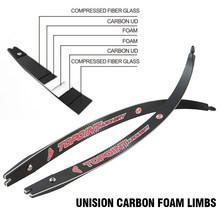 """Recurve Bow Limbs 66/68/70inch, Carbon/Foam Limbs 22-48lbs, Compatible for 25"""" Riser Adult"""