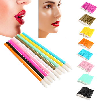 50pcs Soft Disposable Tattoo Cotton Swab Makeup Lip Brushes Microblading Micro Brushes Applicator Tattoo Accessories