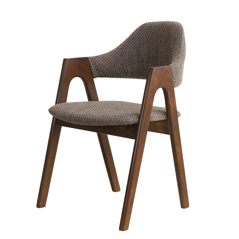 Solid wood dining chair for negotiating chair back coffee handrail and detachable computer meeting book table and chai|  - title=